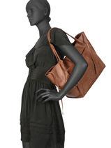 Shoulder Bag A4 Soft Henna Desigual Brown soft henna 19WAXPAA-vue-porte