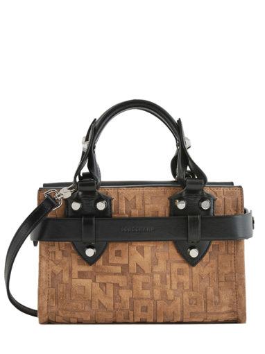 Longchamp La voyageuse lgp velours Handbag Green