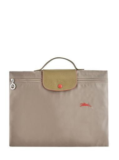 Longchamp Le pliage club Briefcase Beige