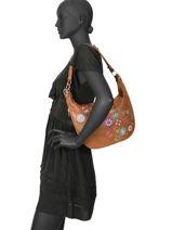 Shoulder Bag Nanit Desigual Brown nanit 19WAXP55-vue-porte