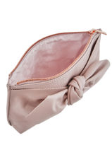 Leather Soft Knot Pouch Ted baker Pink soft knot MILAH-vue-porte