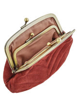 Purse Leather Nat et nin Red vintage AVA-vue-porte