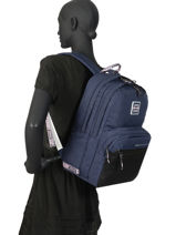 Backpack 2 Compartments Superdry Blue backpack woomen W9100005-vue-porte