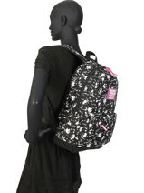 Sac à Dos 1 Compartiment Superdry Noir backpack woomen W9100014-vue-porte