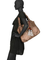 Shoulder Bag Corno Nero Les tropeziennes Brown corno nero COR01-vue-porte