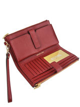 Leather Wallet New Hamilton Michael kors Red money pieces F9GAFW4L-vue-porte