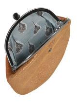 Small Leather Glitter Purse Mila louise Black vintage 3304G-vue-porte