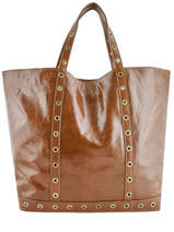 Large Crinkled Leather Le Cabas Shoulder Bag Vanessa bruno Brown cabas cuir 82V40411