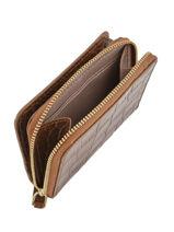 Wallet Leather Lancaster Brown exotic croco 126-25-vue-porte