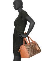 Shoulder Bag Nadelhorn Les tropeziennes Brown nadelhorn NAD01-vue-porte