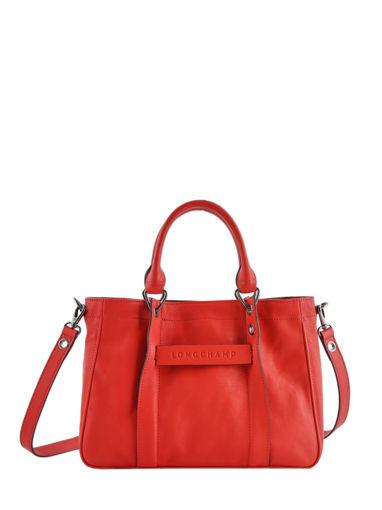 Longchamp Sacs porté main Rouge