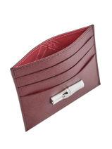 Longchamp Roseau Porte billets/cartes Rouge-vue-porte