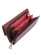 Longchamp Roseau Portefeuilles Rouge-vue-porte