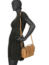 Leather Crossbody Bag About Ally Burkely Brown about ally 545429-vue-porte