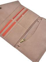 Wallet Sunshine Leather Hexagona Pink sunchine 417736-vue-porte