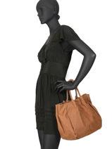 Leather Satchel Marion Biba Brown marion MAX1L-vue-porte