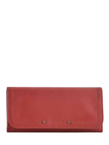 Longchamp Cavalcade Portefeuilles Rouge