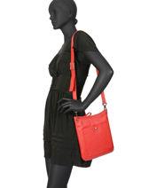 Longchamp Le foulonné Sacs porté travers Rouge-vue-porte