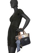 Sac Trapeze Couture Anekke Bleu couture 29881-65-vue-porte
