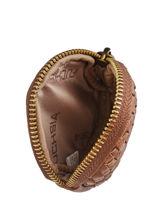 Collins Coin Purse Fuchsia Brown collins F9851-1-vue-porte