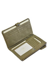Leather All-in-one Wallet Mila louise Green vintage 3367C-vue-porte