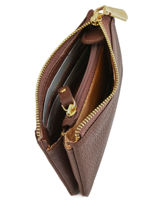 Purse Leather Crinkles Brown 14538-vue-porte