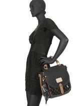 Sac Bandoulière Couture Anekke Noir couture 29885-01-vue-porte