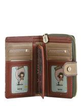 Zip Wallet Egypte Anekke Brown egypte 29899-09-vue-porte