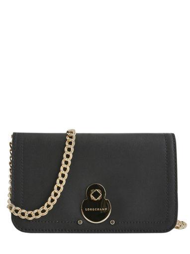 Longchamp Cavalcade Portefeuilles Noir