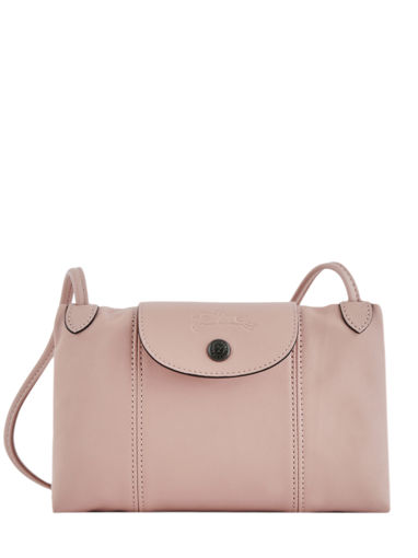 Longchamp Le pliage cuir Sacs porté travers Rose