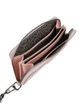 Longchamp Le pliage cuir Portefeuilles Rose-vue-porte