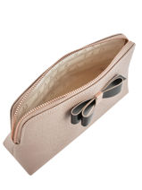 Pouch Bow Detail Ted baker Brown bow detail ELOIS-vue-porte