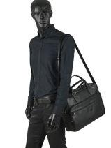 "Business Bag Road Trip With 17"" Laptop Sleeve Serge blanco Black abbruzzo ABR41001-vue-porte"