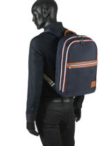 """Backpack World Cup With 15"""" Laptop Sleeve Serge blanco Blue world cup WRC41024-vue-porte"""