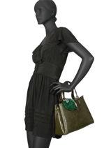 Satchel Croco Miniprix Green croco DQ815-1-vue-porte