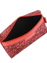 Longchamp Le pliage fleurs Clutches Red-vue-porte