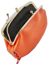 Porte Monnaie Leather Etrier Orange bourse E3691-vue-porte