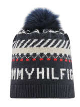 Beanie Tommy hilfiger Blue accessoires AW07380
