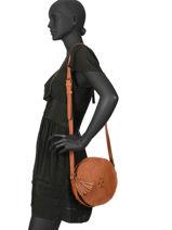 Shoulder Bag Vintage Leather Paul marius Brown vintage PRECIEUX-vue-porte