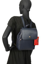 Backpack With Zip Purse Charming Tommy hilfiger Blue charming AW07310-vue-porte