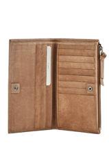 Wallet Leather Biba Brown accessoires VAW2L-vue-porte