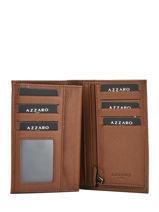 Wallet Leather Azzaro Brown chicago AZ181009-vue-porte