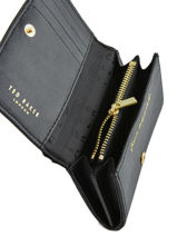Compact Wallet Bow Detail Ted baker Black bow detail SPRIGGS-vue-porte