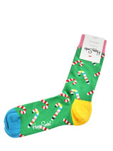 Chausseettes candy cane-HAPPY SOCKS-vue-porte