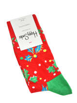 Socks xmas holly-HAPPY SOCKS