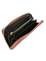 Leather Croco Wallet Milano Orange CR18115-vue-porte