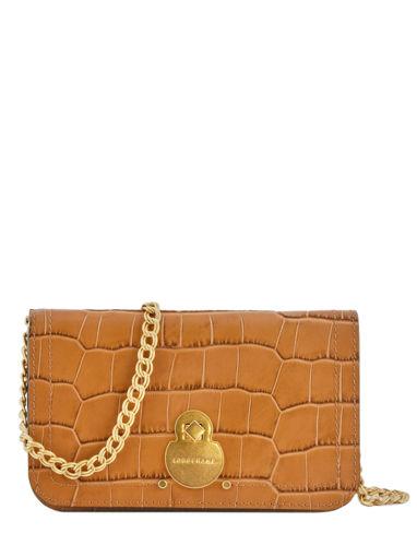 Longchamp Cavalcade croco Wallet Brown
