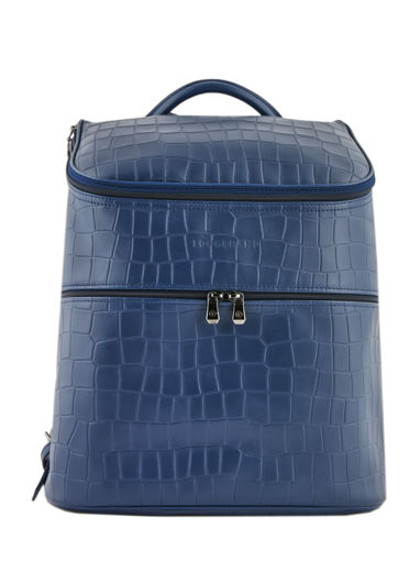 Longchamp Croco block Backpacks Blue
