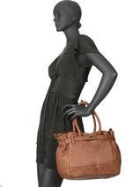 Top Handle A4 Collins Leather Biba Brown collins BL02L-vue-porte