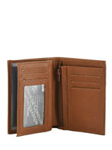 Portefeuille Leather Arthur et aston Brown bart 1978-800-vue-porte